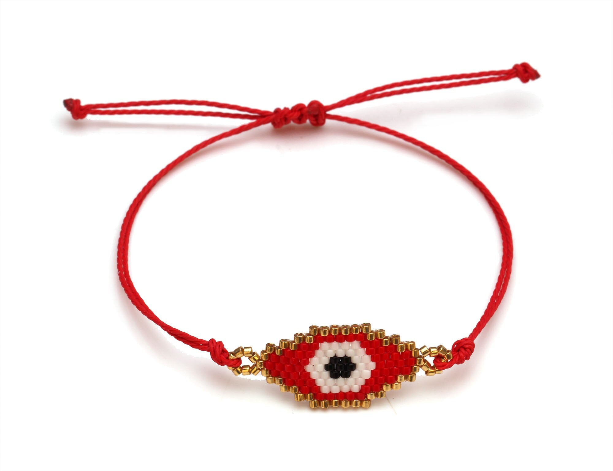 Japanese Glass Eye bracelet - Eye see no evil
