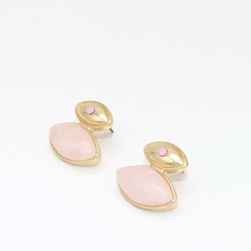 Big Pink Eye studs - Eye see no evil