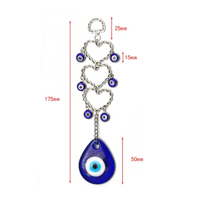 RED Eye BLUE HEART keychain - Eye see no evil