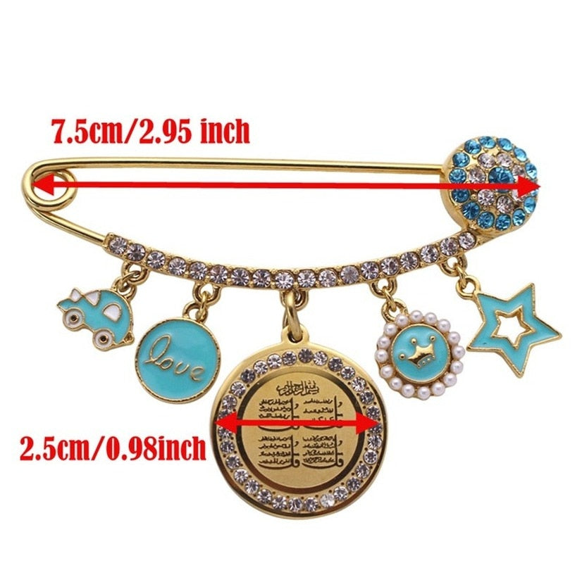 Allah Four Qul Suras Pin Brooch