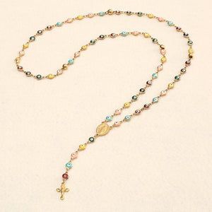 You are my Religion Catholic Crucifix Rosary necklace