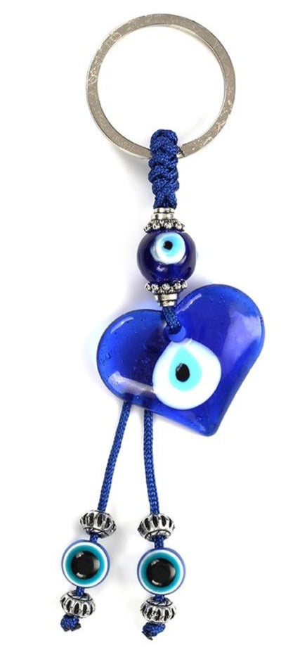 Blue Evil Eye of Glass Pendant keychain