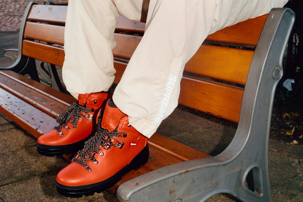 Skate-Schuhe online aktuelles Styling Supreme x Timberland World Hiker Front Country Boot Orange
