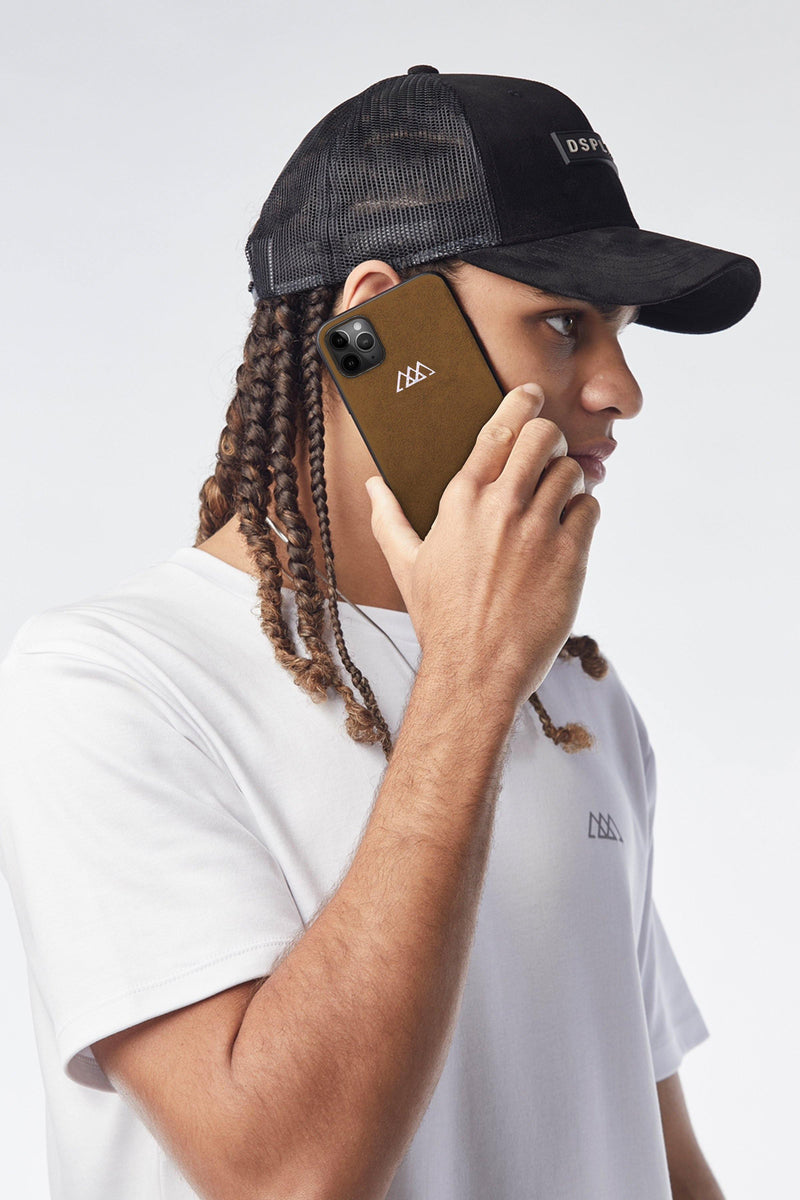 IPHONE 11 & 12 ALCANTARA® CASE | TAWNY BROWN