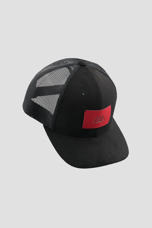 Alcantara® Cap | Black / Ruby Red