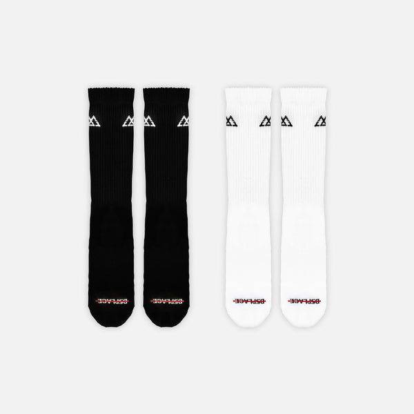 Racer Socks | 2-Pack Black and White