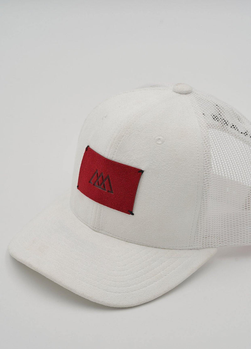 Alcantara® Cap | White / Ruby Red