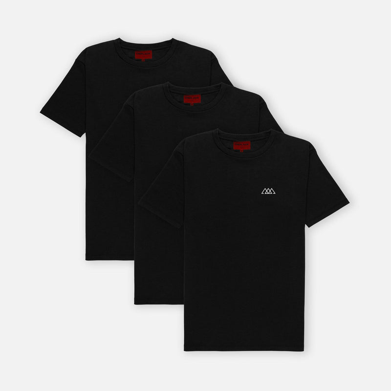 3-Pack Chaos Tee | Jet Black