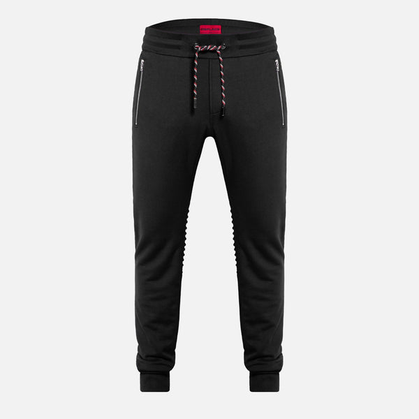 Inverted Biker Sweatpants | Jet Black