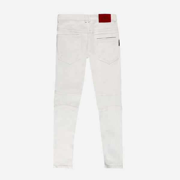 Distressed Denim Jeans | Off White Eggshell
