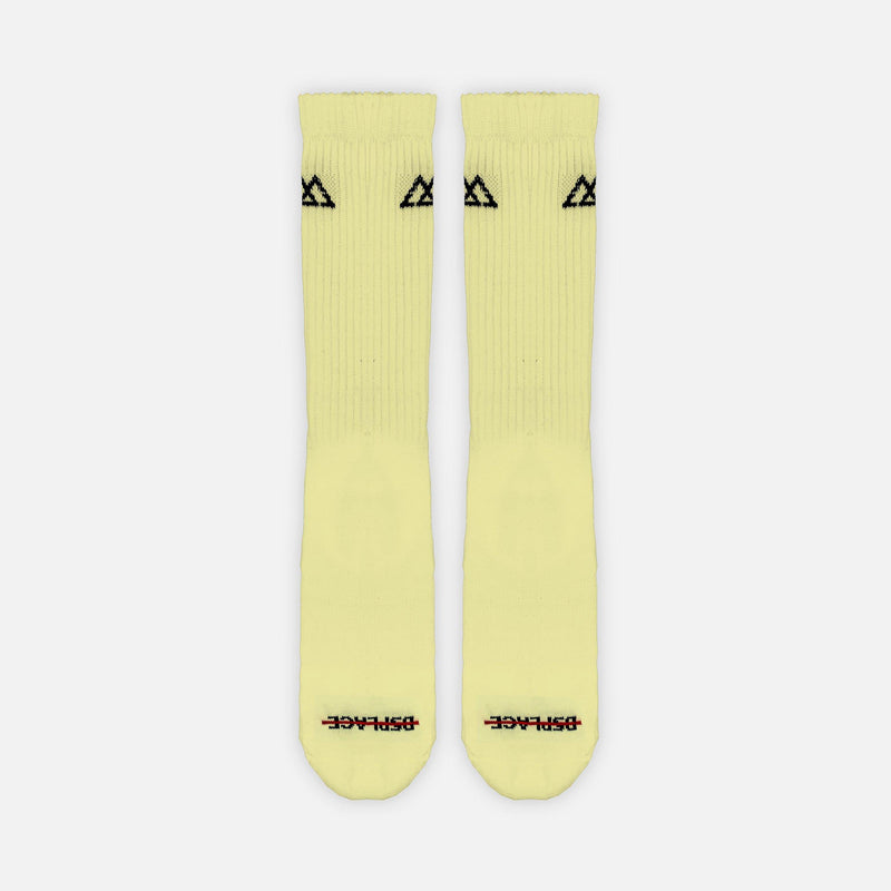 Racer Socks | Pastel Yellow