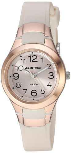 931ae28ed2f62 Armitron Sport Women s 25 6418 Easy to Read Dial Resin Strap Watch Pink Rose
