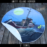 Amity Island Horror Beach Towel & Blanket