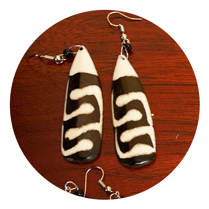 5 pack Mix Cow Bone Earrings | Wholesale Discount