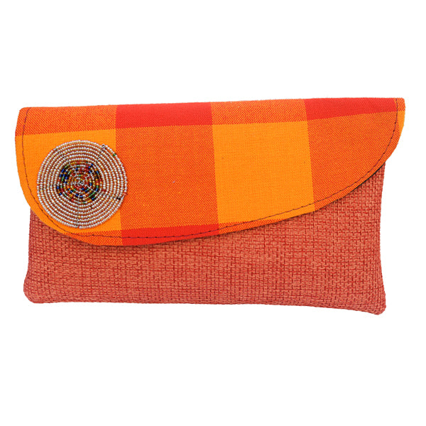 Yellow/Orange Ankara Fabric Clutch