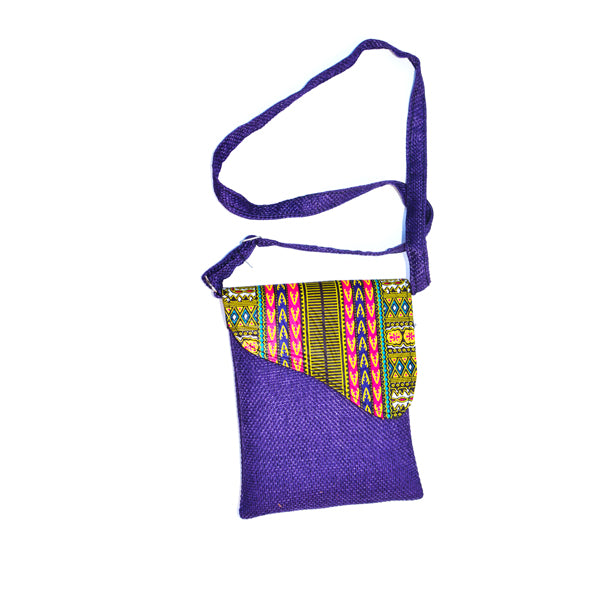 Ankara Handbag (Purple)