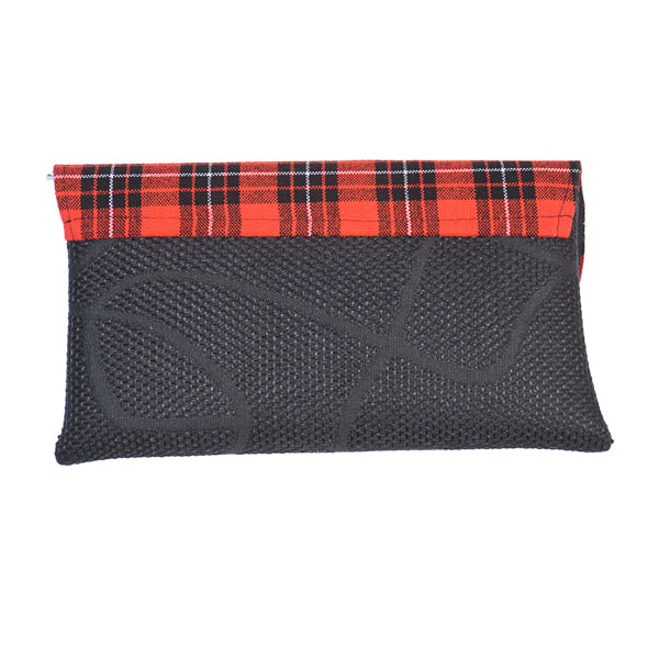 Red and Black Ankara Fabric Maasai Clutch