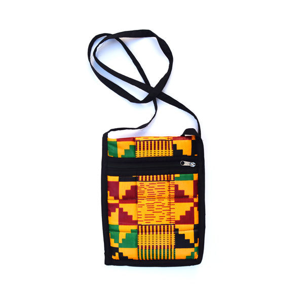 African Pattern Crossbody Strap Bag/Purse