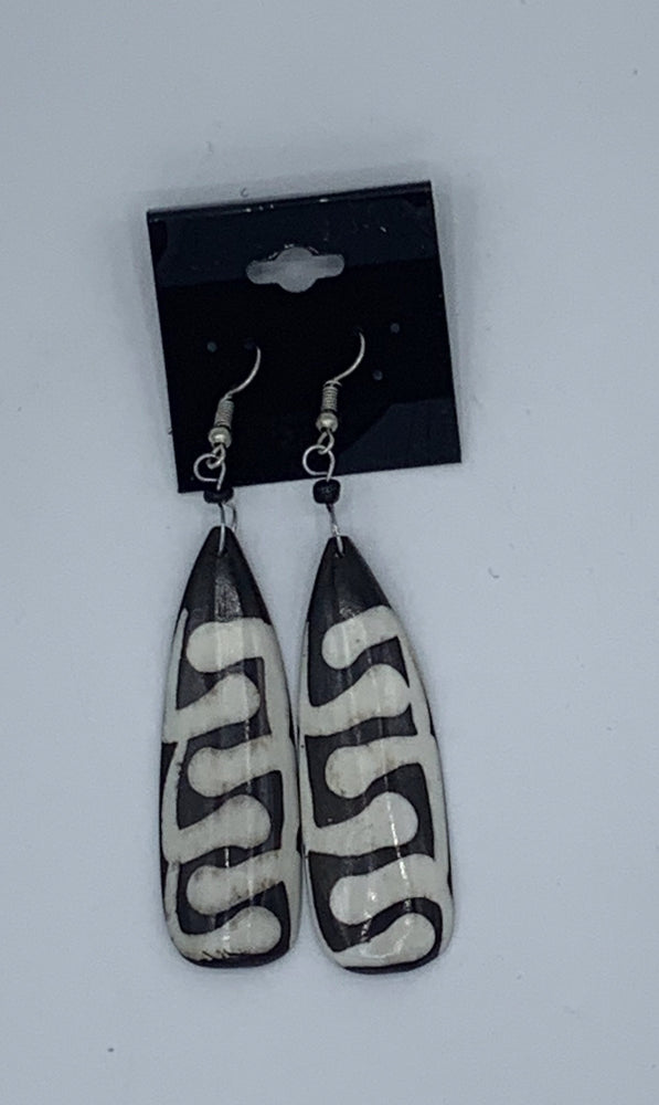 Oval Cow Bone Earrings