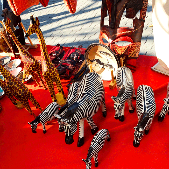Wooden Zebra Statues | Wholesale Discount