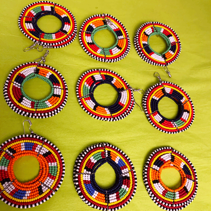 5 pack mix Maasai Beaded Earrings | Wholesale Discount