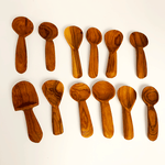 5 pack Small Wooden Tea Spoons