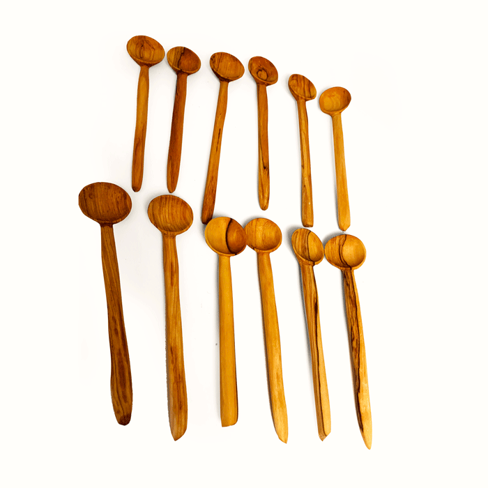 5 piece Large Wooden Tea Spoons