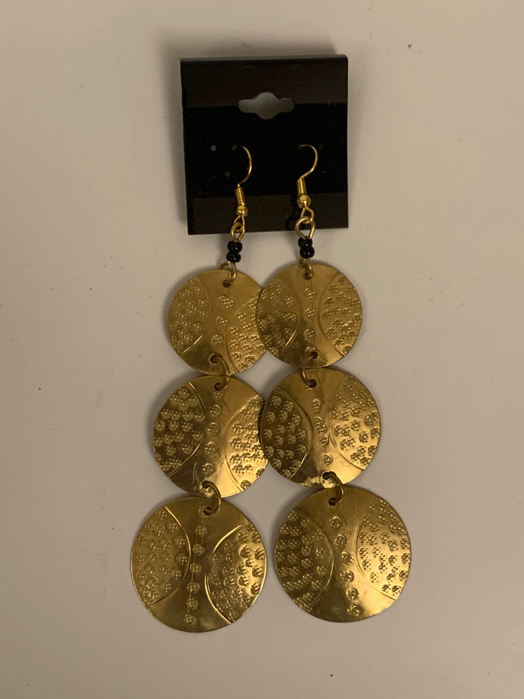 3-in-1 Brass Earrings
