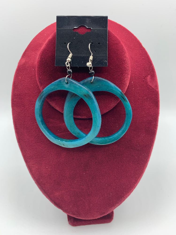 Round Cow Horn Earrings