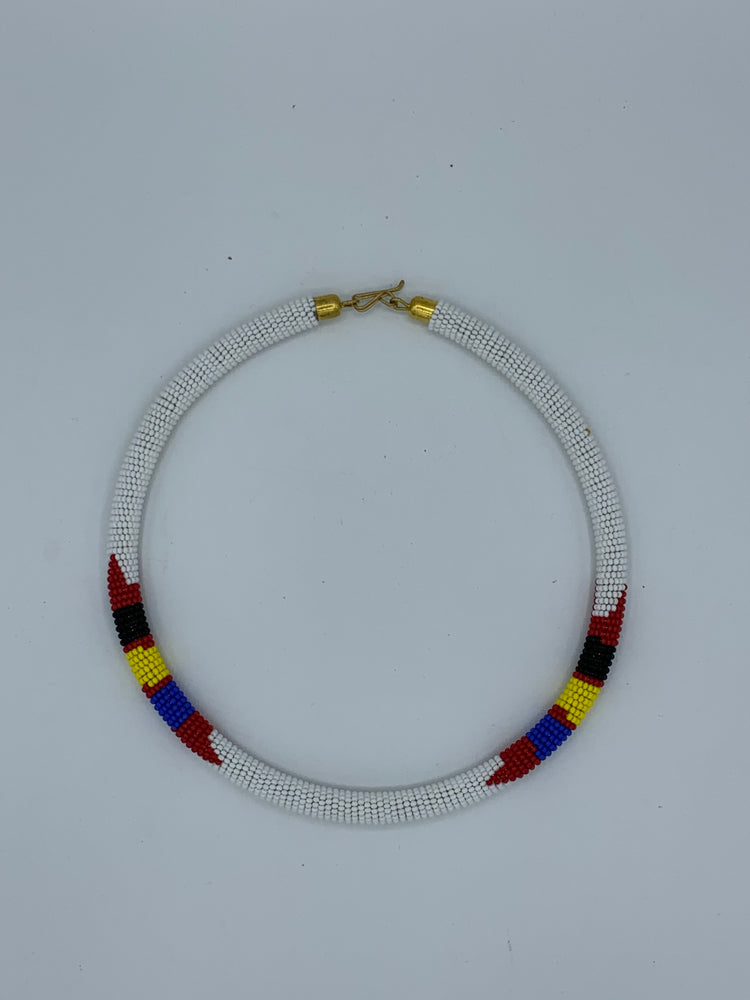 African Beaded Rope Necklace
