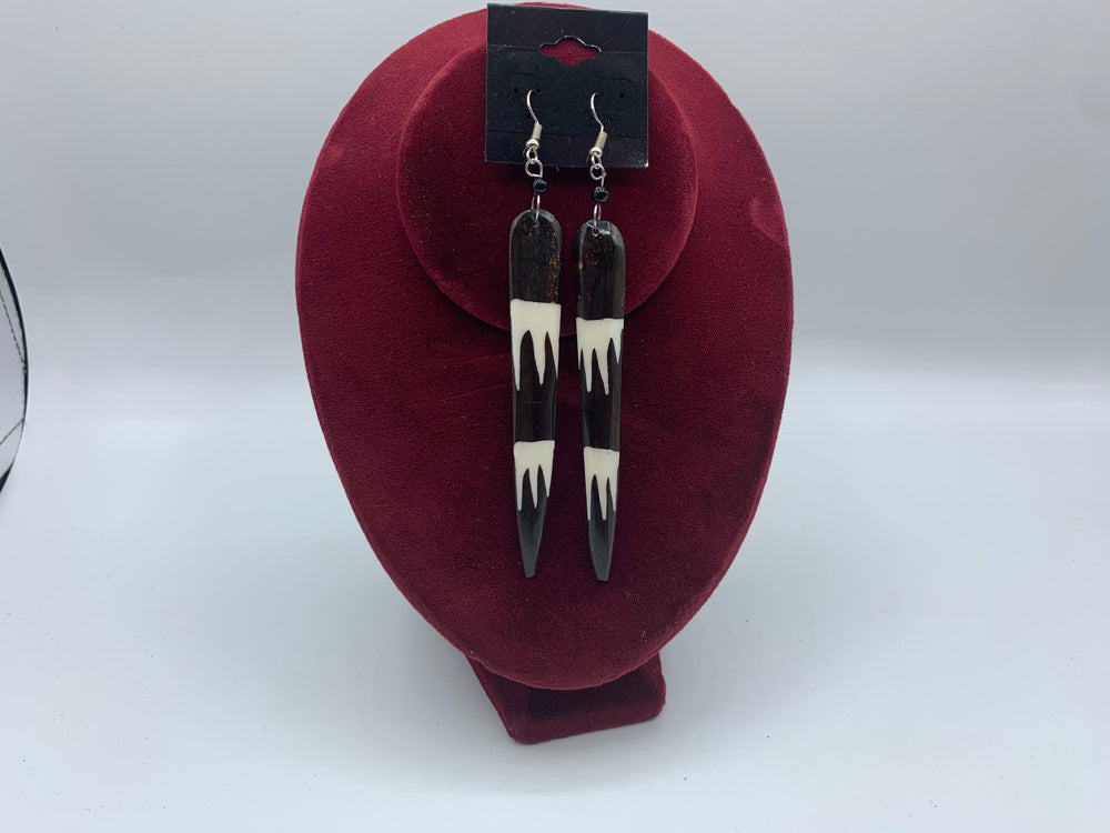 Long Cow Bone Earrings