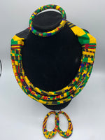 Ankara Jewelry Set (Necklace, Earrings, Bracelet)
