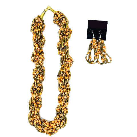 Maasai Beaded Necklace/Earrings Set