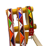 Men's Leather, Beaded Maasai Belt