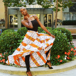 African Kente Long Maxi Skirt