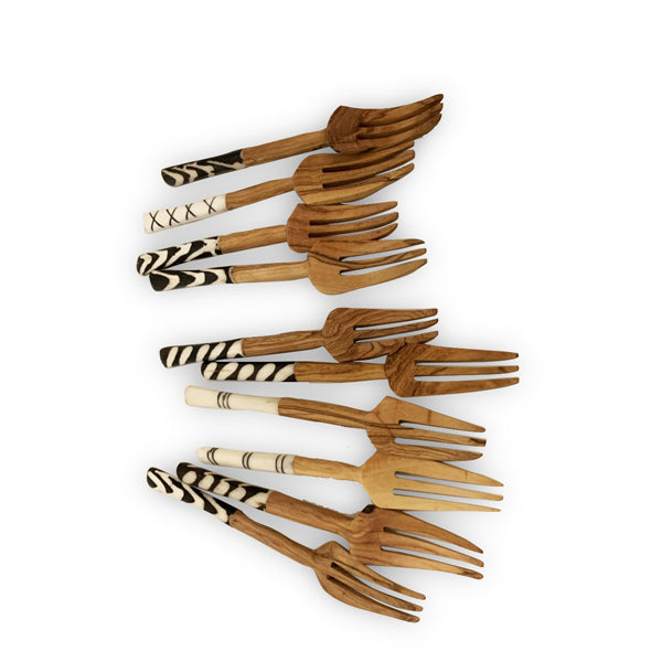 Hand Carved Wooden Forks | Wholesale Discount