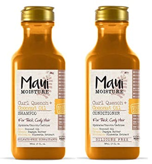 Maui Moisture Curl Quench + Coconut Oil Shampoo and Conditioner - Curly & Fierce