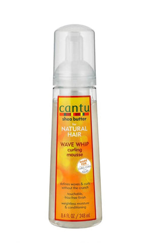 Cantu Natural Hair Wave Whip Curling Mousse - Curly & Fierce