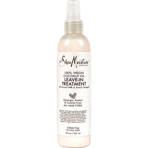 Shea Moisture 100% Virgin Coconut Oil Daily Hydration Leave-In Treatment - Curly & Fierce