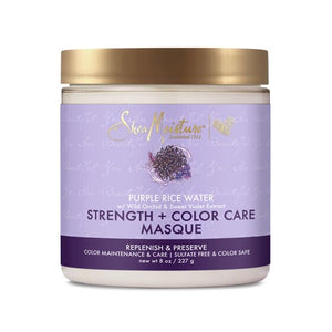 SHEA MOISTURE PURPLE RICE WATER STRENGTH & COLOR CARE MASQUE - Curly & Fierce