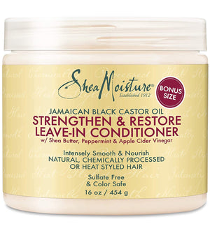 Shea Moisture Strengthen & Restore Leave-In Conditioner 454 ml - Curly & Fierce