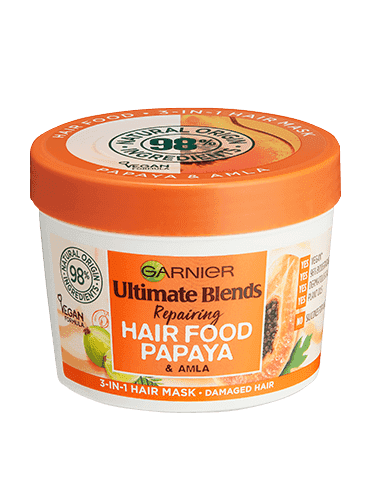 Garnier Ultimate Blends Vegan Hair Food Papaya 3-in-1 Damaged Hair Mask Treatment - Curly & Fierce