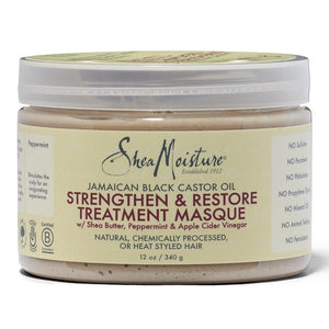 Shea Moisture Jamaican Black Castor Oil  Masque - Strengthen and Restore Hair Treatment - Curly & Fierce