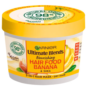 Garnier Ultimate Blends Hair Food Banana 3-in-1 Dry Hair Mask Treatment - Curly & Fierce