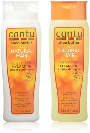 Cantu Shea Butter for Natural Hair Double Combo Shampoo and Conditioner - Curly & Fierce