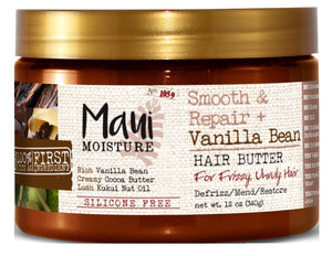 Maui Moisture Smooth & Repair Vanilla Bean Hair Butter 12 Ounce (354ml) - Curly & Fierce