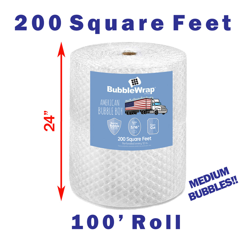 "24"" Medium (5/16) Bubble Wrap - 200 Square feet"