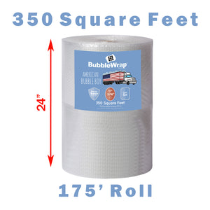 "24"" Small (3/16) Bubble Wrap - 350 Square feet"