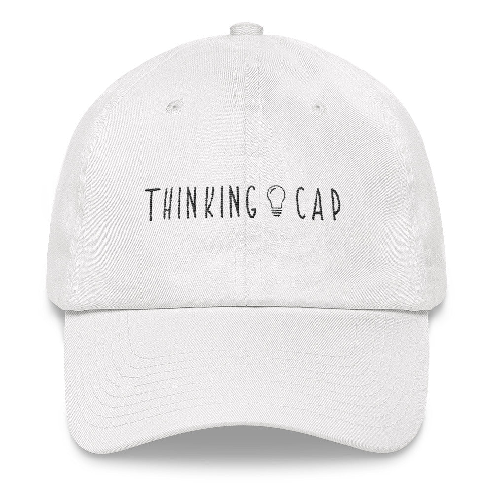 Thinking Cap Dad Hat (White)