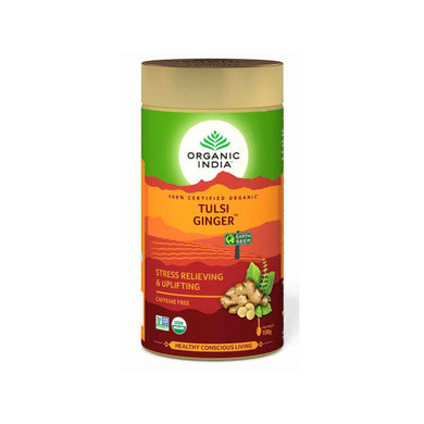TULSI GINGER TEA TIN 100g can【ORGANIC INDIA】